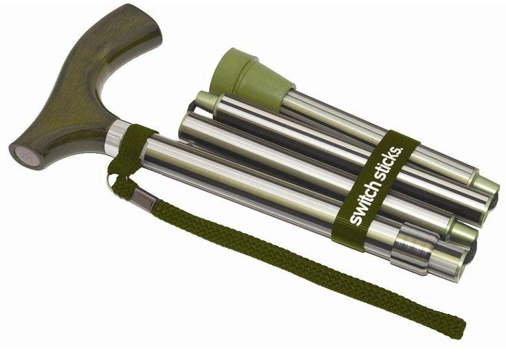 Switch Sticks 502-2000-5105 Folding Walking Stick Cane, Huntington