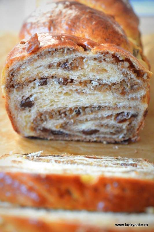 Traditional Romanian  walnut and raisin Cake for Christmas