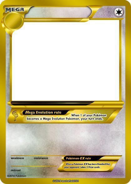 Blank Pokemon Card Mega   Invitation Templates Taylor - 420x590 - jpeg