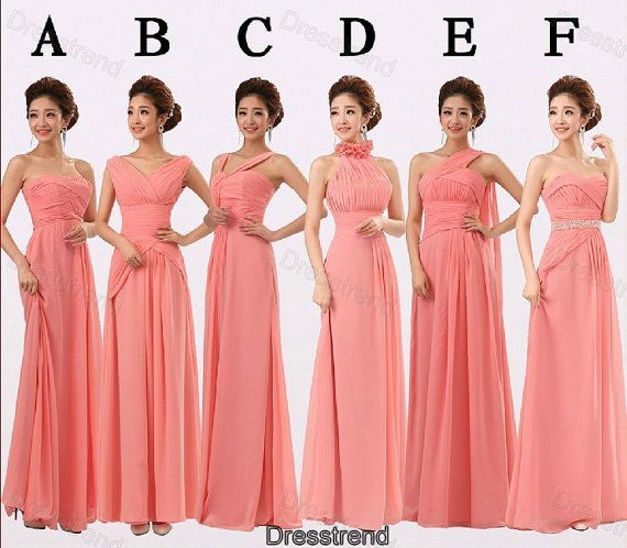 Coral bridesmaid dress bridesmaid dresses love the for Wedding dress strap styles