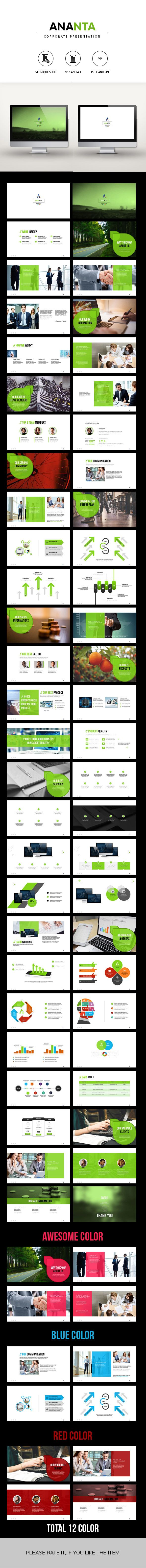 ANANTA | Corporate Powerpoint Template - Business PowerPoint Templates