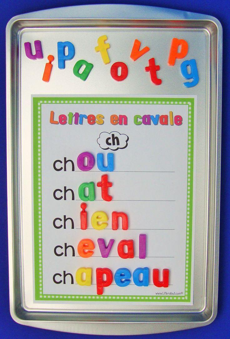 Activité Lettres en cavale (6-7 ans)  Cette activité invite l'élève à lire et compléter des mots commençant avec le graphème /ch/, ceci à l'aide de lettres magnétiques. Les élèves se servent d'indices graphophonétiques pour reconstituer les mots afin d'éventuellement mieux décoder et construire le sens des textes lus.