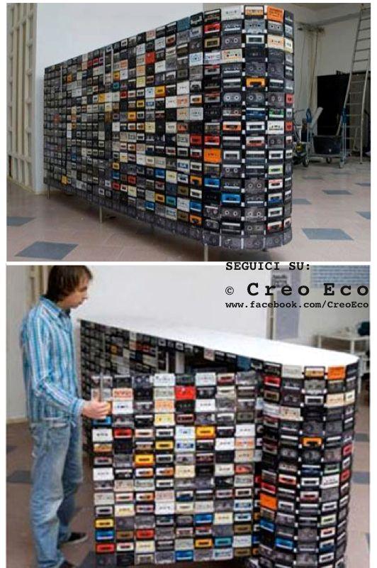 #RicicloCreativo #Audiocassette  SEGUICI SU: www.facebook.com/CreoEco