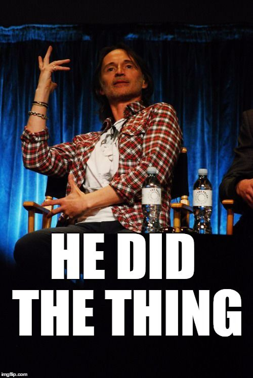 Robert Carlyle doing the Thing...OUAT Funny