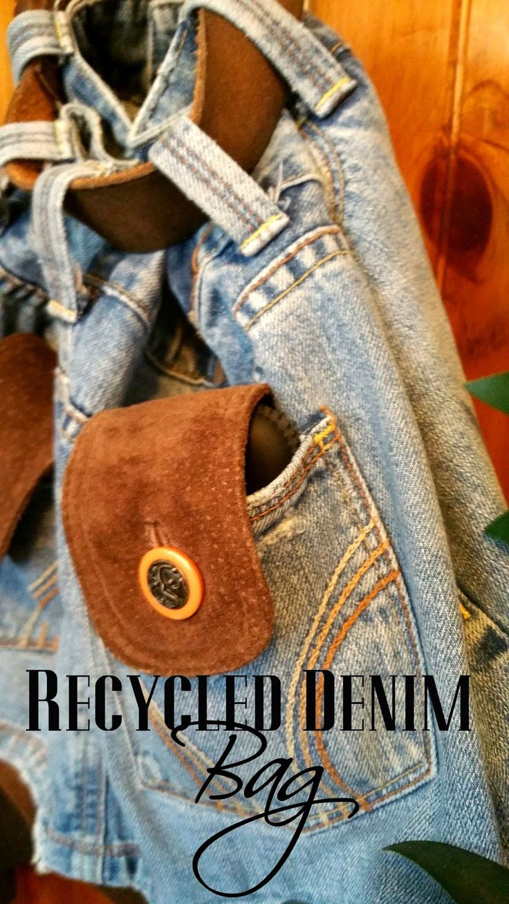 Redo It Yourself Inspirations : Recycled Denim Jean Bag
