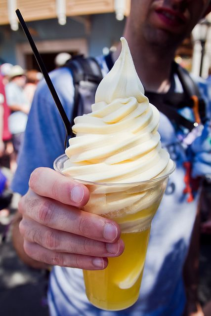 Dole Whip from the Dole Plantation after getting out of the world's largest maze