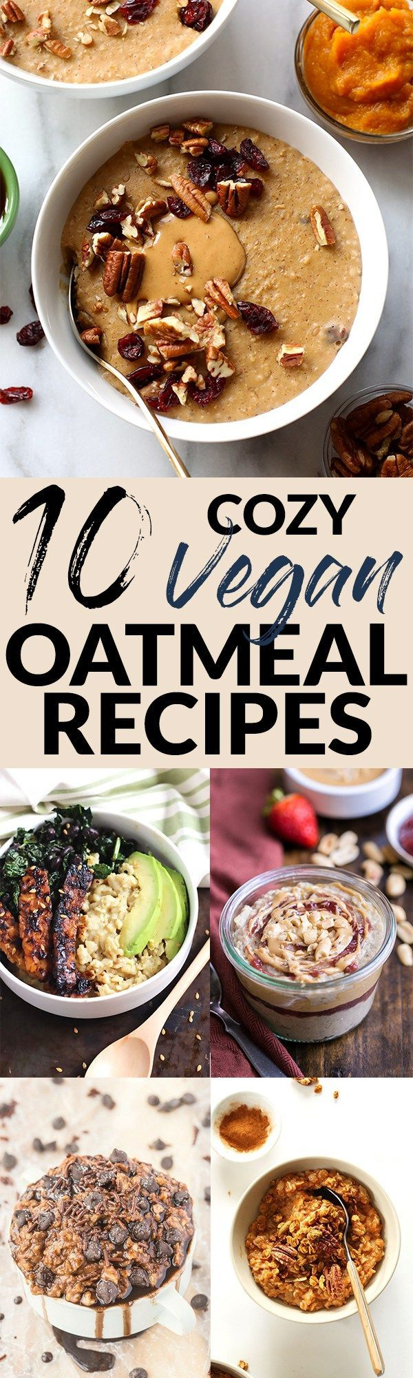 Start cold mornings off right with a warm bowl of nourishing oatmeal! From chocolate to pumpkin, you'll never get bored with these 10 vegan oatmeal recipes. I have to be honest with you… I have not