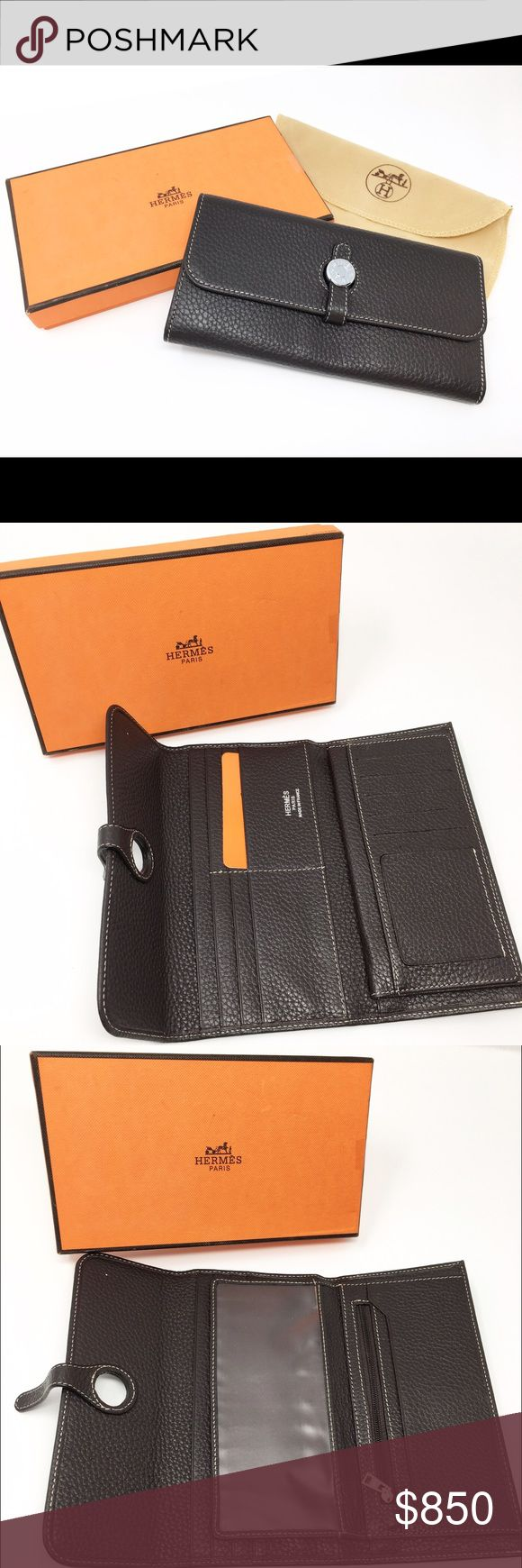 Hermes Wallet Authentic with Box & Dustbag Brand New! Leather Brown Hermes Wallet. Comes with 1 Hermes Wallet, 1 Hermes Box, 1 Hermes DustBag. ✨no trading at this time✨ Hermes Accessories Key & Card Holders