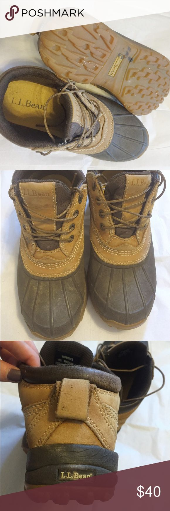 LL Bean Boots! Good condition! I used the boots for one winter but I just don't wear them any more. They are used but still have a lot of wear in them and are great for snow and ice or just rainy days. Also they're ll bean size 6.5 so they fit from a 6.5 to 7.5 comfortably! L.L. Bean Shoes Winter & Rain Boots