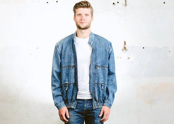 Vintage Mens Jeans Jacket available at BETAMENSWEAR.ETSY.COM