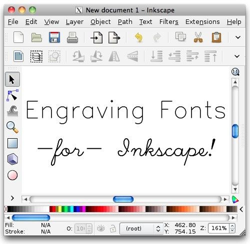 Hershey Text: Inkscape extension for engraving fonts