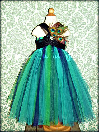 Flower girl tutu @Krystil Macik Larson.... I seen you had some Peacock