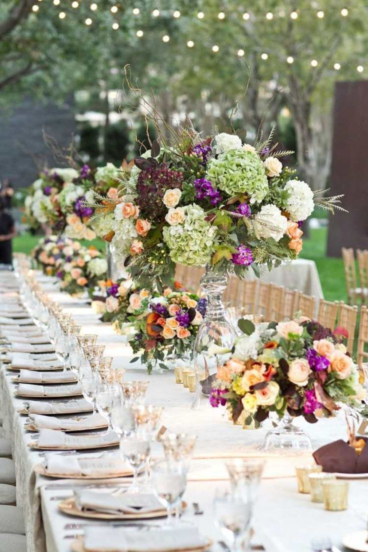 Üppige Hochzeit Tischdeko Idee