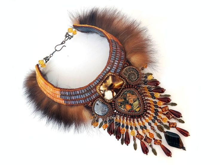 Beaded jewelry by  Irina Chikineva