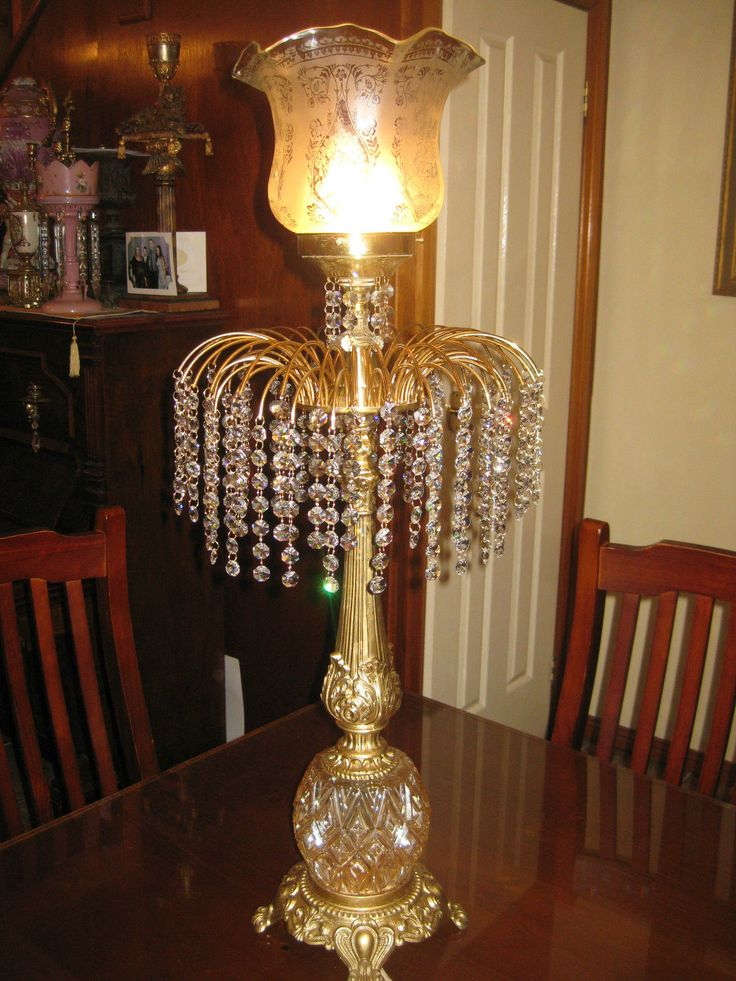 292 best lights lamps images on pinterest chandeliers huge 1950 60s crystal chandelier victorian style parlor lamp mozeypictures Choice Image
