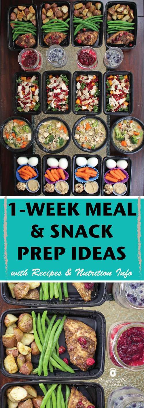 #MealPrepMonday - this week for your meal prep Monday, I've got ideas for your Thanksgiving leftovers, including: -> Turkey, Broccoli and Wild Rice Soup -> Parmesan Kale Turkey Salad with Roasted Butternut Squash and Pomegranate -> Cranberry Balsamic Chicken with Roasted Potatoes and Green Beans -> Cranberry Orange Overnight Oats -> Blueberry Coconut Overnight Oats ------->  Plus I prepped my snacks ahead of time and stuck them in my own version of a bento box.