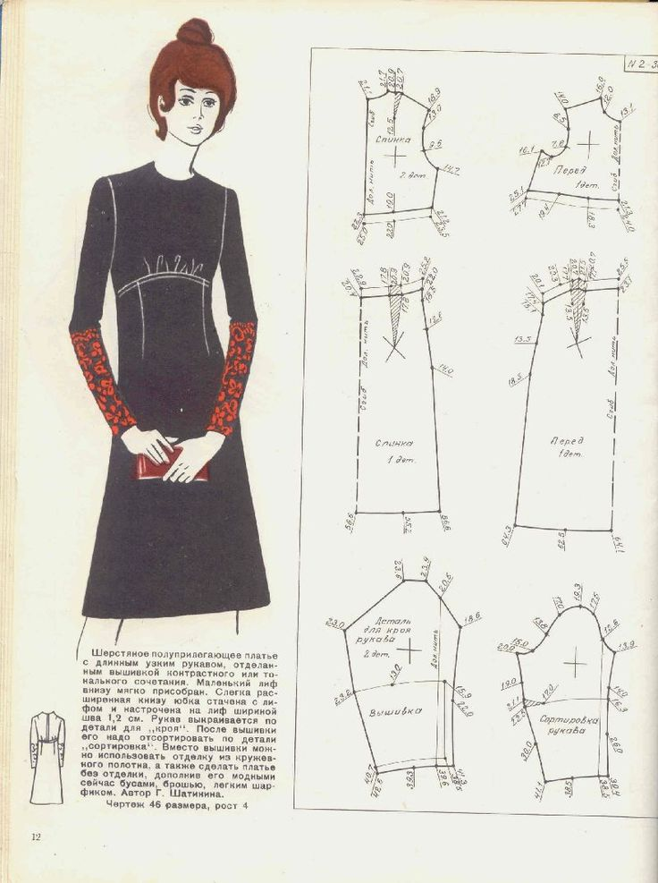 Illustration showing pattern pieces for this dress. It would be very easy to alter a standard a-line dress pattern to create this style. Changing the bodice darts to gathers really changes the look.