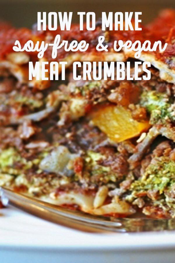 "HOMEMADE VEGGIE-FULL GROUND ""MEAT""  ~~~~~  cauliflower, raw walnuts, oil, garlic powder, dried sage, smoked paprika, liquid smoke, salt, soy sauce"