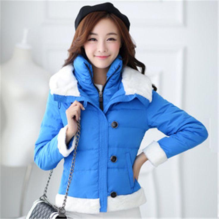 2015 новое поступление S ~ XL женщин casaco feminino зима бренда с ватные пиджаки парки двойной воротник женский даунс пальто LW281