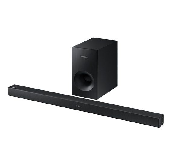 Buy Samsung HW-K360 XU 130W 2.1Soundbar With Wireless Subwoofer at Argos.co.uk, visit Argos.co.uk to shop online for Sound bars, Home cinema systems and sound bars, DVD players, blu-ray players and home cinema, Technology