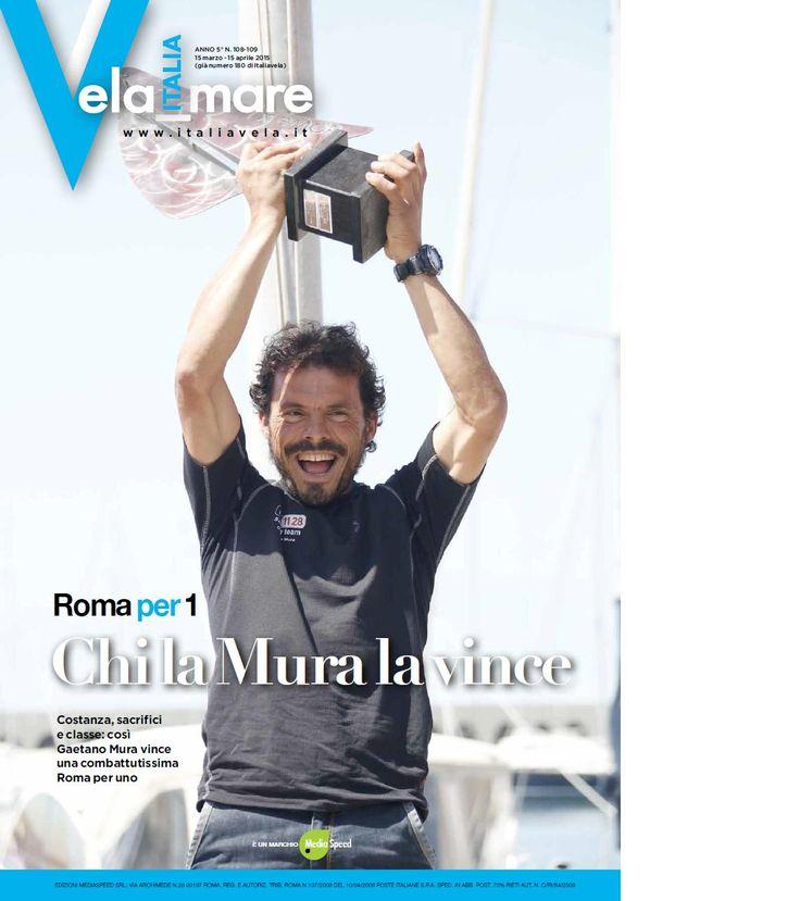 La copertina di Italia Vela dedicata alla vittoria della Roma x 1 di Gaetano