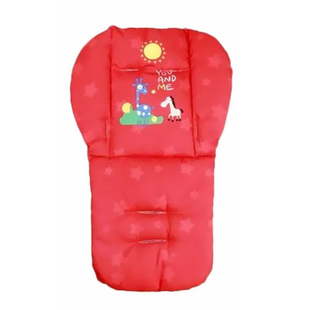Purple/Red/Blue Baby Stroller Cushion Child Cart Seat Cushion Pushchair Cotton Thick Mat 0-36 Month Baby Car Pad
