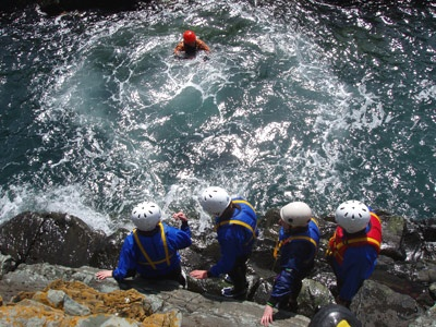 Coasteering in the the UK