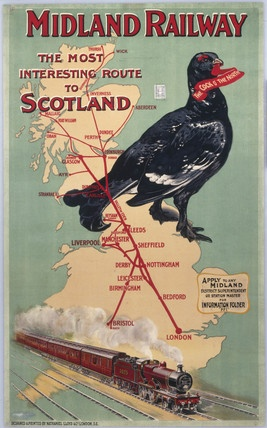 TX83 Vintage Midland Railway To Scotland British Travel Poster Re-print A4