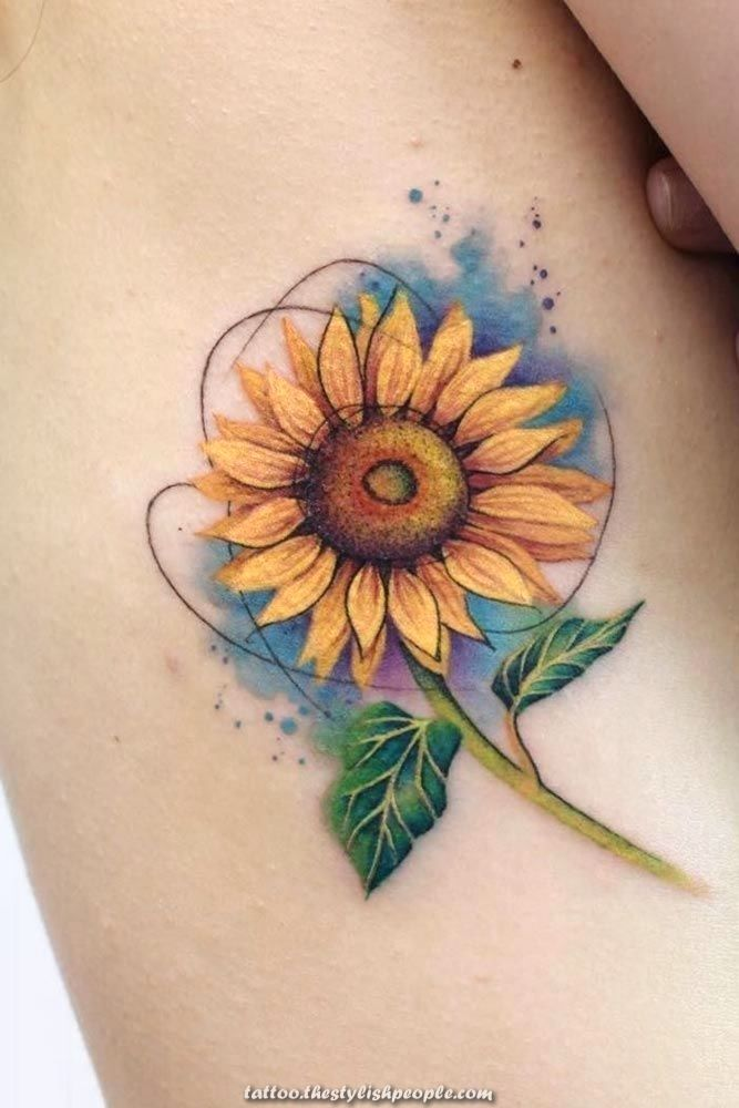 Charismatic Get Your Self Impressed With Our Sunflower Tattoo