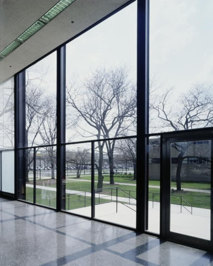 View from the inside, Restoring Mies van der Rohe: S.R. Crown Hall by Krueck and Sexton Architects. Photography © Todd Eberle. Courtesy of K...