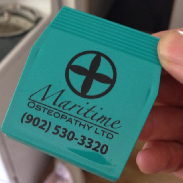 Clip magnets for our client Maritime Osteopathy.