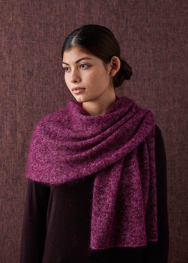 Elementary Wrap In Tussock | Purl Soho #knitting #yarn