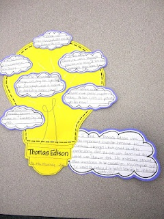 Biographies....written on the shape of something associated with that person. Genius.
