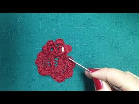 Video-tutorial rosa a de crochet irlandes. Hilo FINCA Nº12, ganchillo O,6MM.