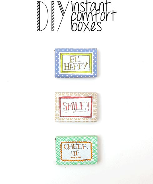 #DIY instant comfort box by Making Mondays