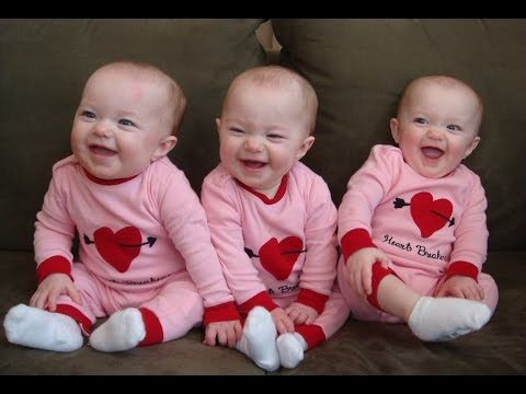 Triplets Laughing. OH MY GOSH! THIS IS THE CUTEST THING EVER!!!