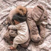 Plush Elephant Pillow Toy
