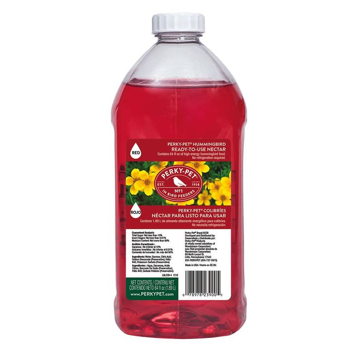 Perky-Pet 64 fl oz. Ready-To-Use Red Hummingbird Nectar
