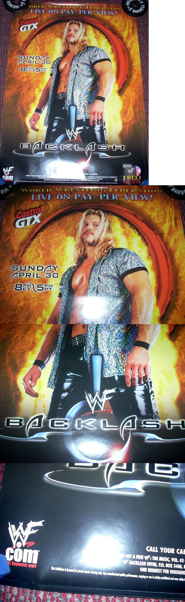 Wrestling 2902: Vintage Original Wwf Wwe Ppv Backlash 2000 Triple H Awesome Poster Rare 27X39 -> BUY IT NOW ONLY: $69 on eBay!