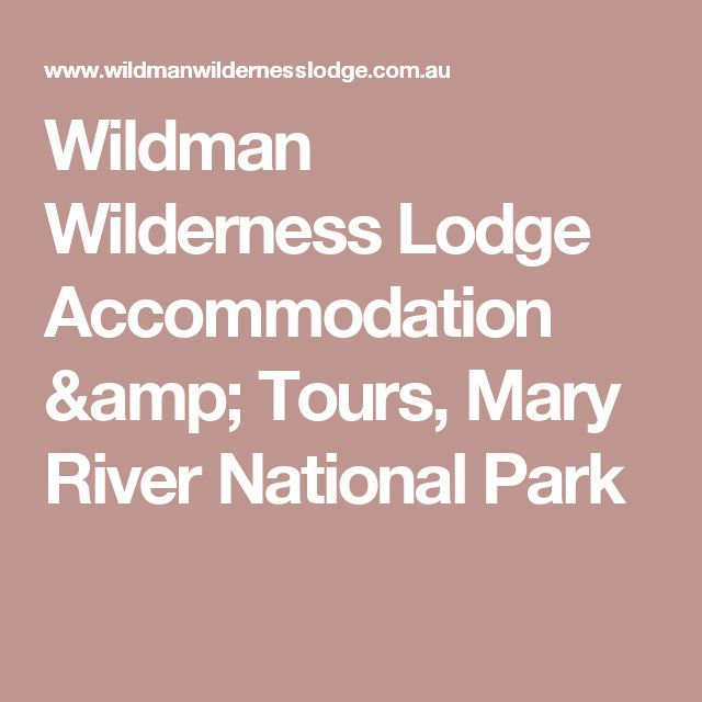 Wildman Wilderness Lodge Accommodation & Tours, Mary River National Park