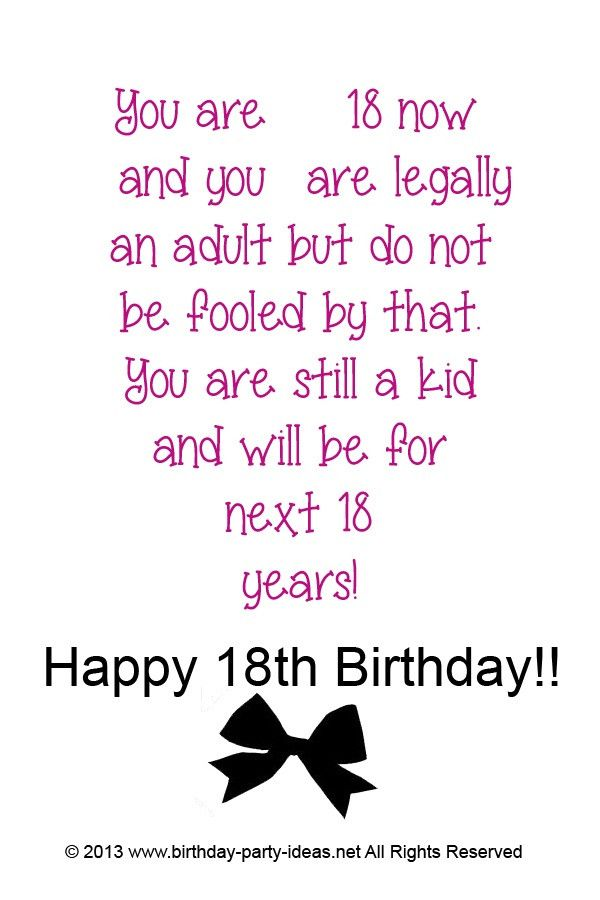 Funny Quotes For Boys 18th Birthday The Best Ideas For Funny 18th