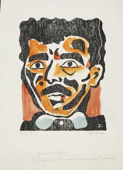 Retrato de Gabriel Gaecía Márquez (grabado)Luis Seoane
