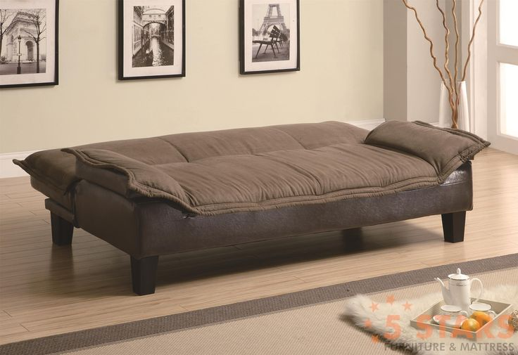Sofa beds and futons ratchet back sofa bed with dark for Andersen leather chaise sectional