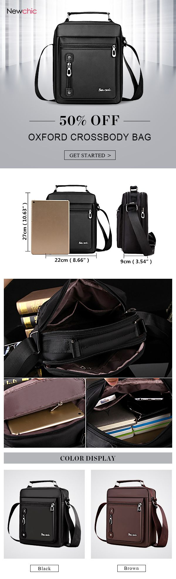 US$20.29 Oxford Vintage Casual Business Shoulder Crossbody Bag For Men#bags#business #vintagefashion