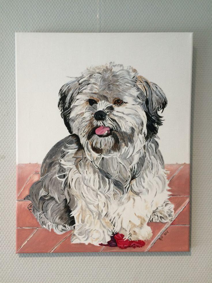 Portret van hond by Ria Bos
