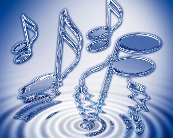 Music Notes Desktop Wallpaper: Blue Music Note Wallpaper
