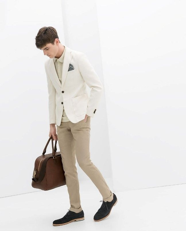 Dressed for Travel: in light neutral tones.