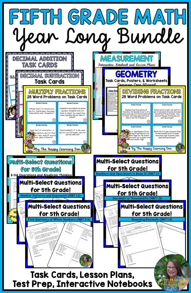 This 5th Grade Math Bundle Features All The Common Core Standards With Lots Of Worksheets Task Cards And Activities For Y 5th Grade Math Fifth Grade Math Math [ 1128 x 736 Pixel ]