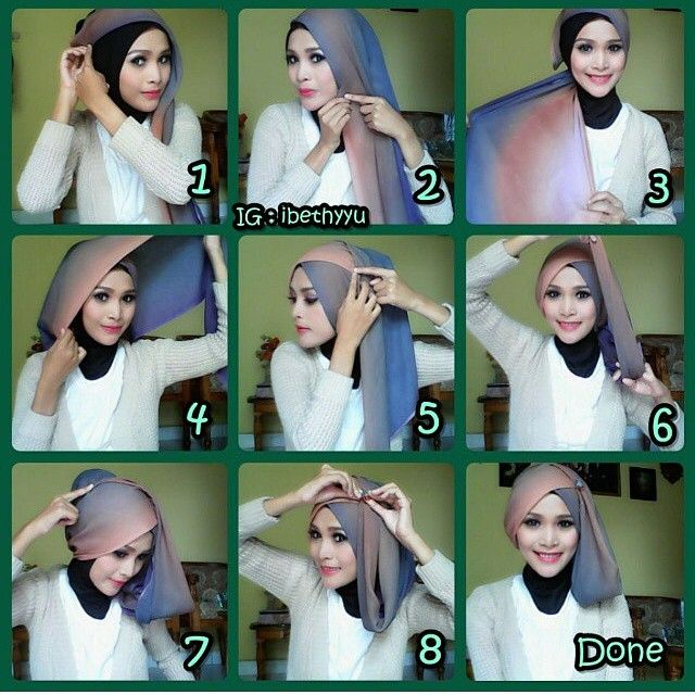 Tutorial hijab Paris #tutorialhijabs - tutorial_hijabs's photo on Instagram - Pixsta PC App