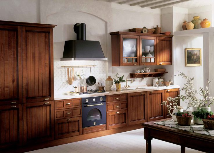 Charming Country Kitchens #Wood #Charm #Kitchen